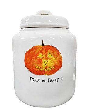 Rae Dunn Artisan Collection By MagentaTrick Or Treat Jar Jack O Lantern 0 300x360
