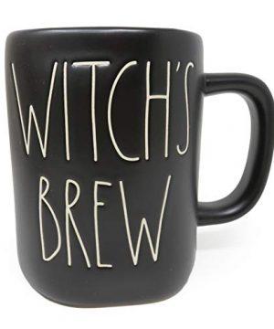 Rae Dunn Black Halloween WITCHS BREW Mug 0 300x360