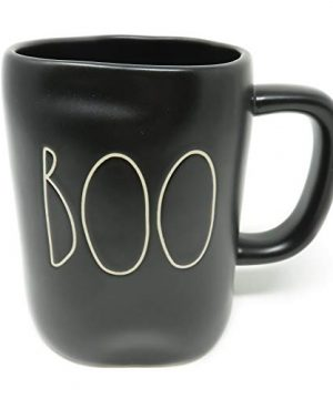 Rae Dunn By Magenta BOO 2019 Limited Edition Black Ceramic LL Coffee Tea Mug With White Letters 0 300x360