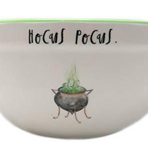 Rae Dunn By Magenta HOCUS POCUS Script Melamine Cauldron Icon Mixing Bowl With Green Interior 0 0 300x315