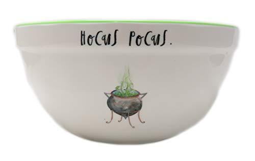 Rae Dunn By Magenta HOCUS POCUS Script Melamine Cauldron Icon Mixing Bowl With Green Interior 0 0