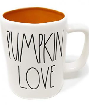 Rae Dunn By Magenta PUMPKIN LOVE Ceramic LL Coffee Tea Mug With Orange Interior 0 300x360