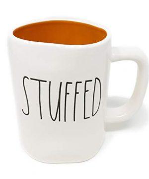 Rae Dunn By Magenta STUFFED Ceramic LL Coffee Tea Mug With Orange Interior 2019 Limited Edition 0 300x360