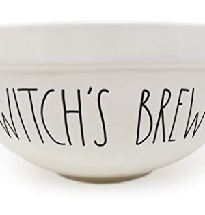 Rae Dunn By Magenta WITCHS BREW 10 Inch Large Size Ceramic LL Serving Mixing Bowl With Orange Interior 0 0 300x314
