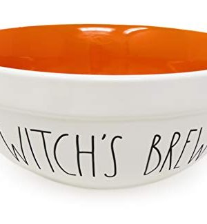 Rae Dunn By Magenta WITCHS BREW 10 Inch Large Size Ceramic LL Serving Mixing Bowl With Orange Interior 0 300x325