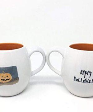 Rae Dunn Happy Halloween Jack O Lantern Pumpkin Mug 0 300x360