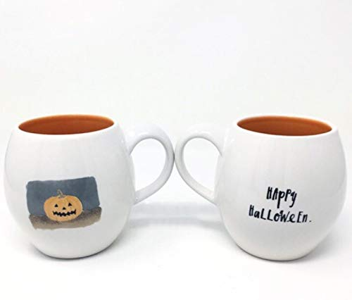 Rae Dunn Happy Halloween Jack O Lantern Pumpkin Mug 0
