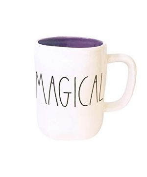 Rae Dunn Large Letter LL Halloween Mugs 16 Oz Coffee Mugs MAGICAL Purple Interior 0 300x360