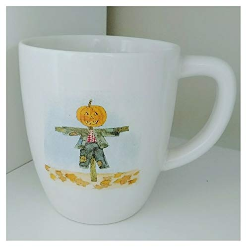 Rae Dunn Pumpkin Scarecrow Trick Or Treat Double Sided Halloween Holiday Coffee Mug Artisan Collection By Magenta 0 0