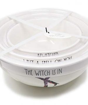 Rae Dunn By Magenta 3 Piece The Witch Is In I Put A Spell ON You Bewitched Ceramic Witch Legs Nesting Serving Mixing Bowl Set 2019 Limited Edition 0 300x360