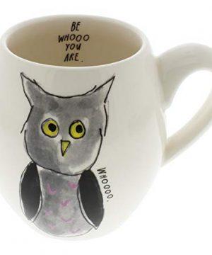 Rae Dunn By Magenta BE WHOOO YOU ARE Owl Halloween Mug 0 300x360