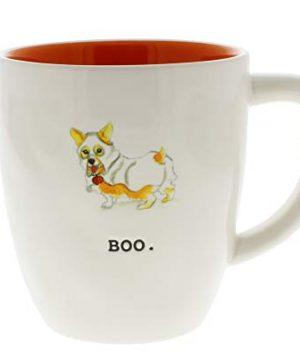 Rae Dunn By Magenta BOO Dog Costume Halloween Mug Orange Interior 0 300x360