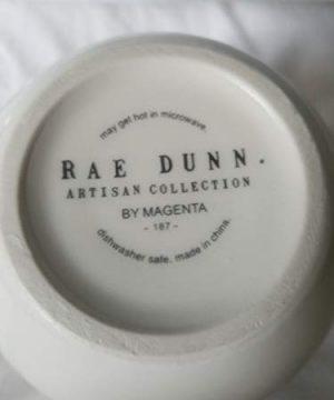 Rae Dunn By Magenta SKELETON With Broom HALLOWEEN Mug With Black Inside 0 3 300x360