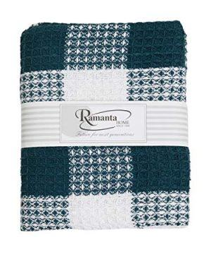 Ramanta Home Buffalo Check All Season Cotton Throw Blanket 50x60 Machine Washable Farmhouse Style Throws Blanket Warm Soft Cozy TealWhite 0 2 300x360