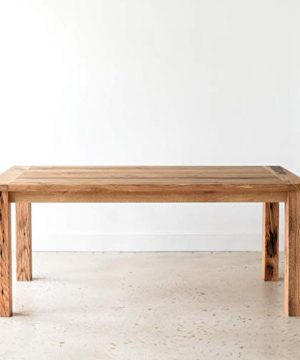 Reclaimed Wood Farmhouse Dining Table With Smooth Finish 0 0 300x360