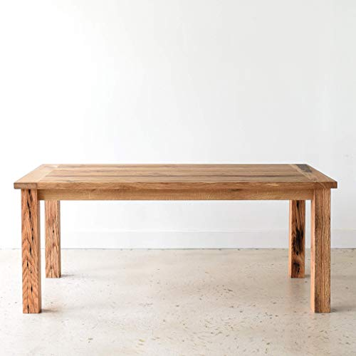 Reclaimed Wood Farmhouse Dining Table With Smooth Finish 0 0