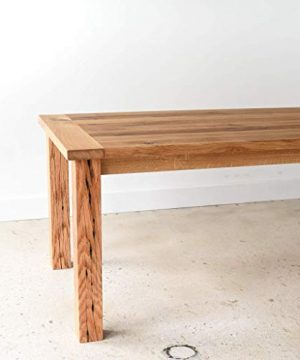 Reclaimed Wood Farmhouse Dining Table With Smooth Finish 0 2 300x360