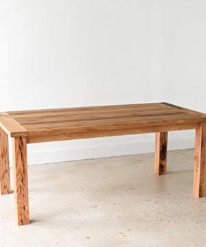 Reclaimed Wood Farmhouse Dining Table With Smooth Finish 0 3 300x360