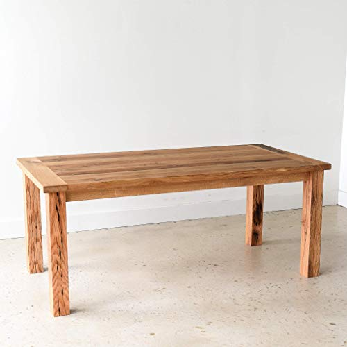 Reclaimed Wood Farmhouse Dining Table With Smooth Finish 0 3