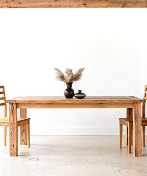 Reclaimed Wood Farmhouse Dining Table With Smooth Finish 0 300x360