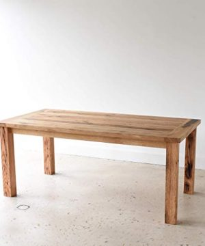 Reclaimed Wood Farmhouse Dining Table With Smooth Finish 0 4 300x360