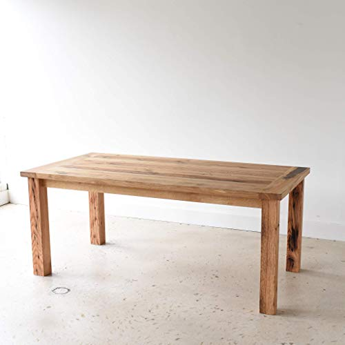 Reclaimed Wood Farmhouse Dining Table With Smooth Finish 0 4
