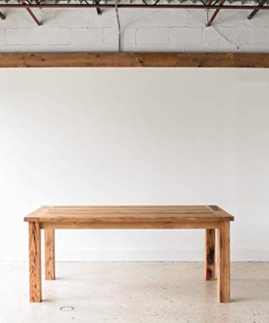 Reclaimed Wood Farmhouse Dining Table With Smooth Finish 0 5 300x360