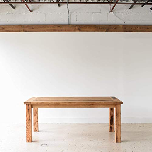 Reclaimed Wood Farmhouse Dining Table With Smooth Finish 0 5