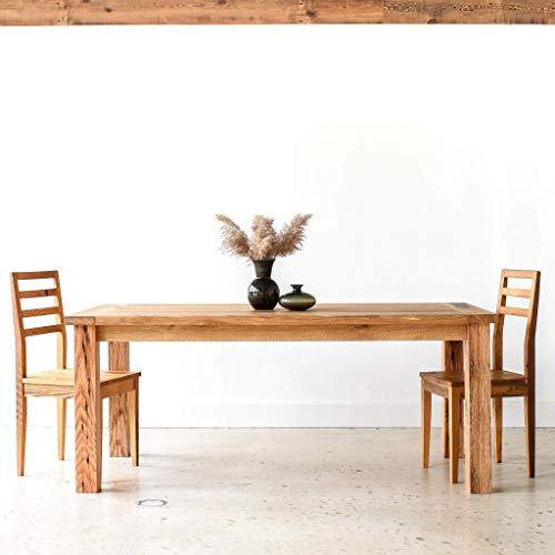 Reclaimed Wood Farmhouse Dining Table With Smooth Finish 0