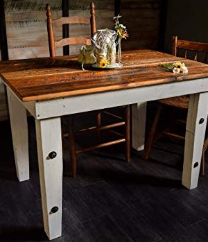 Reclaimed Wood Farmhouse Table Sugar Mountain Woodworks Handmade Rustic Wooden Work Table Computer Desk Dining Table 0 300x349