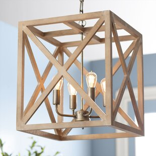 +Rectangle+Chandelier+with+Wood