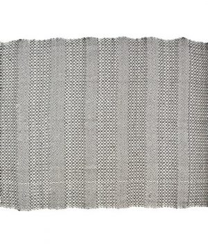 Rivet Modern Hand Woven Stripe Fringe Throw Blanket Soft And Stylish 50 X 60 Charcoal Grey And Mustard Yellow 0 0 300x360