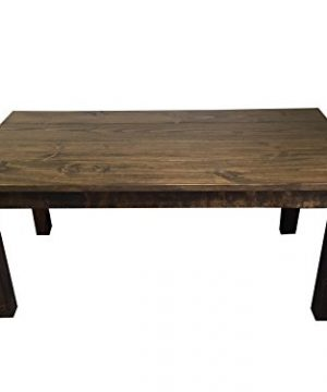 Rustic Dark Walnut Farmhouse Dining Table 48 0 300x360