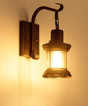 Rustic Light Fixtures Oil Rubbed Bronze Finish Indoor Vintage Wall Light Wall Sconce Industrial Lamp Fixture Glass Shade Farmhouse Metal Sconces Wall Lights For Bedroom Living Room Cafe2 Pack 0 4 300x360