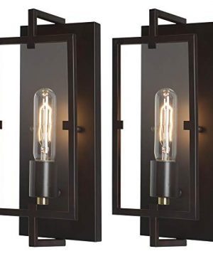 Rustic Vintage Bronze Wall Sconce Light Fixtures Set Of 2Oil Rubbed BronzeAntique Brass FinishIndustrial Fixture Suitable For Bedroom Living Room HallwayE26 BaseBulb Included 0 300x360