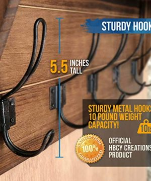 Rustic Wall Mounted Coat Rack Shelf Brown Wooden Country Style 24 Entryway Shelf With 5 Rustic Hooks Solid Pine Wood Perfect Touch For Your Entryway Mudroom Kitchen Bathroom And More Brown 0 3 300x360