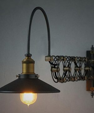 SUSUO Lighting Industrial Look Scissor Extendable Accordion Wall Sconces Loft Style Iron Art Wall Lamp 0 1 300x360