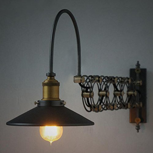 SUSUO Lighting Industrial Look Scissor Extendable Accordion Wall Sconces Loft Style Iron Art Wall Lamp 0 1