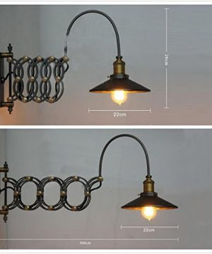 SUSUO Lighting Industrial Look Scissor Extendable Accordion Wall Sconces Loft Style Iron Art Wall Lamp 0 2 300x360