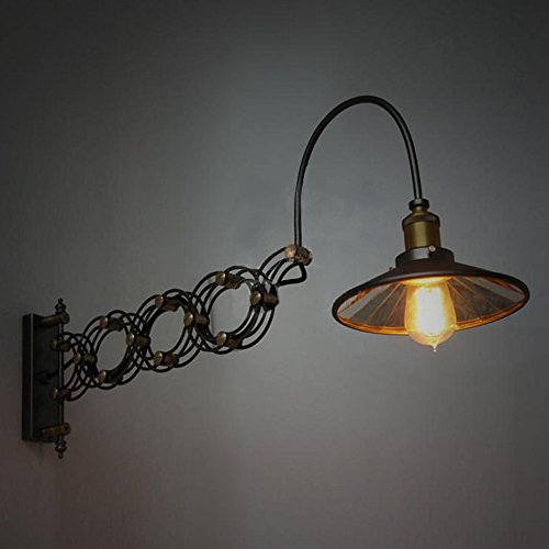 SUSUO Lighting Industrial Look Scissor Extendable Accordion Wall Sconces Loft Style Iron Art Wall Lamp 0 5