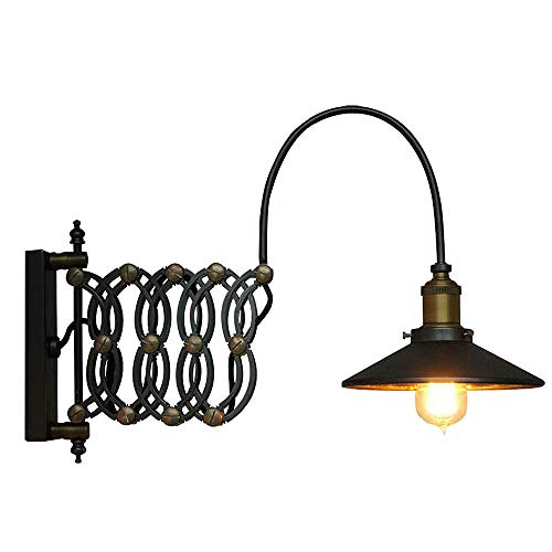 SUSUO Lighting Industrial Look Scissor Extendable Accordion Wall Sconces Loft Style Iron Art Wall Lamp 0