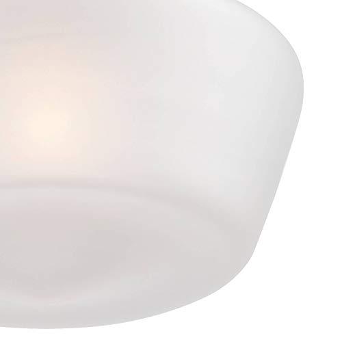 Schoolhouse Floating Ceiling Light Semi Flush Mount Fixture Bronze 12 White Glass For Bedroom Kitchen Regency Hill 0 1