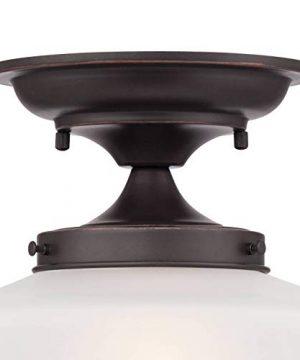 Schoolhouse Floating Ceiling Light Semi Flush Mount Fixture Bronze 12 White Glass For Bedroom Kitchen Regency Hill 0 2 300x360