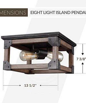 Sea Gull Lighting 7513302 846 Dunning Two Light Flush Mount Ceiling Light Stardust Finish 0 1 300x360