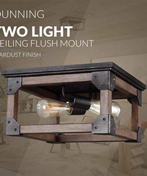 Sea Gull Lighting 7513302 846 Dunning Two Light Flush Mount Ceiling Light Stardust Finish 0 3 300x360