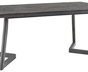 Signature Design By Ashley Besteneer Rectangular Dining Room Table Contemporary Style Dark Gray 0 300x248