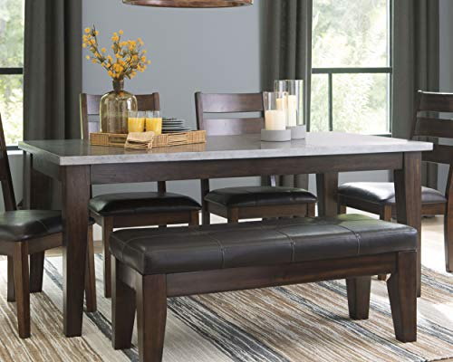 Signature Design By Ashley Larchmont Dining Room Table Burnished Dark Brown 0 0