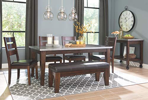Signature Design By Ashley Larchmont Dining Room Table Burnished Dark Brown 0 3