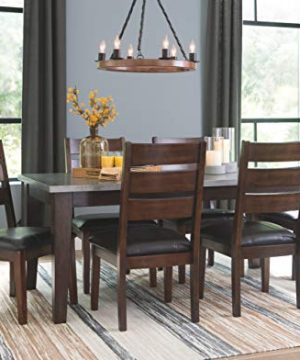 Signature Design By Ashley Larchmont Dining Room Table Burnished Dark Brown 0 4 300x360