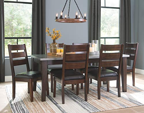 Signature Design By Ashley Larchmont Dining Room Table Burnished Dark Brown 0 4